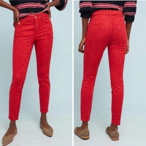 Pilcro High Rise Jacquard Ankle Skinny Jeans